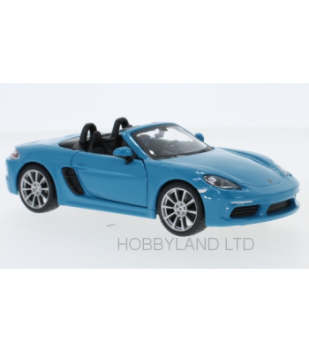 Porsche 718 Boxter Convertible, light blue