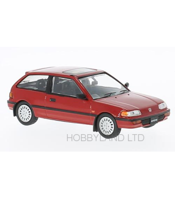 Honda Civic, red, RHD, 1987