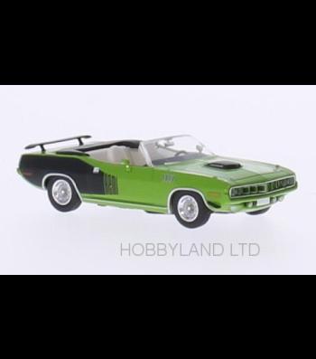 Plymouth HEMI Cuda Convertible, green / decor, 1971, soft top opened