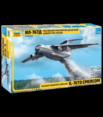 """1:144 Транспортен самолет на """"Министерство на извънредните ситуации"""" ЕМЕРКОМ ИЛ-76 ТД (IL-76 TD """"EMERCOM"""")"""