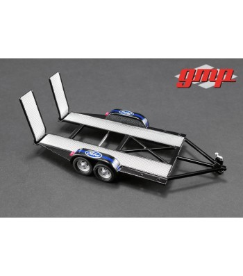 GMP Tandem Car Trailer with Tire Rack - Ford