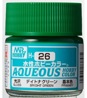 H-026 Gloss Bright Green (10ml) - Mr. Color for Car Models