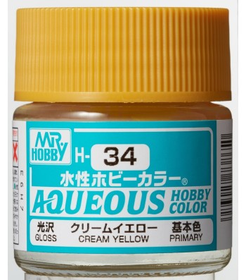 H-034 Gloss Cream Yellow (10ml) - Mr. Color