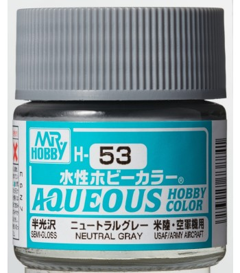 H-053 Semi-Gloss Neutral Grey (10ml) - Mr. Color for Aircraft Models, USA, WWII