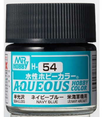 H-054 Semi-Gloss Navy Blue (10ml) - Mr. Color for Aircraft Models, USA, WWII