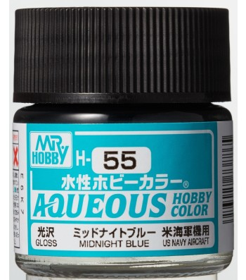 H-055 Gloss Midnight Blue (10ml) - Mr. Color for Aircraft Models, USA, WWII