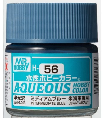 H-056 Semi-Gloss Intermediate Blue (10ml) - Mr. Color for Aircraft Models, USA, WWII