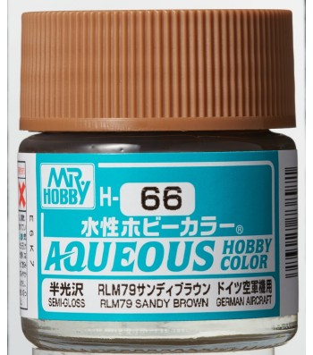 H-066 Semi-Gloss RLM79 Sandy Brown (10ml) - Mr. Color for Aircraft Models, Germany, WWII