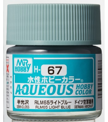 H-067 Semi-Gloss RLM65 Light Blue (10ml) - Mr. Color for Aircraft Models, Germany, WWII