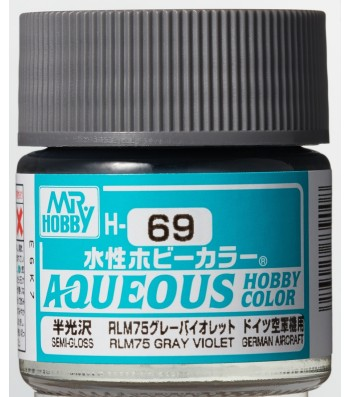 H-069 Semi-Gloss RLM75 Grey (10ml) - Mr. Color for Aircraft Models, Germany, WWII