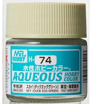 H-074 Semi-Gloss Sky (Duck Egg Green) (10ml) - Mr. Color for Aircraft Models, Great Britain, WWII