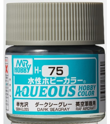 H-075 Semi-Gloss Dark Sea Grey (10ml) - Mr. Color for Aircraft Models, Great Britain, WWII