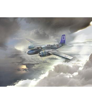 1:48 Бомбардировач от Втората световна война A-26В Invader Тихоокеански военни действия (Американски A-26В Invader Pacific War Theater, WWII American Bomber)