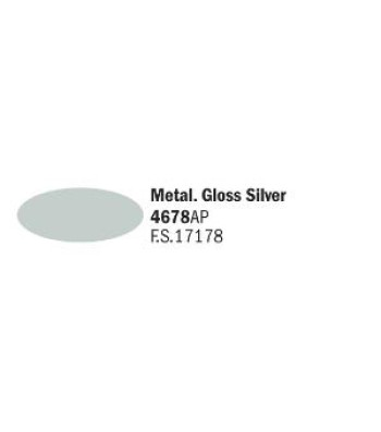 Gloss Silver - Акрилна боя за моделизъм (20 ml)