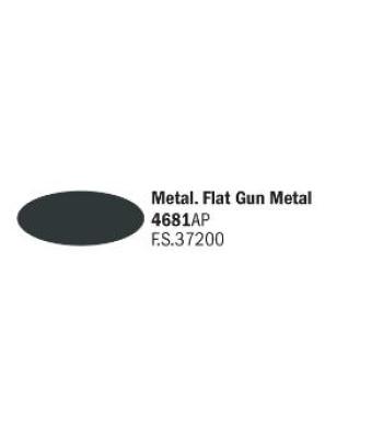 Flat Gun Metal - Акрилна боя за моделизъм (20 ml)
