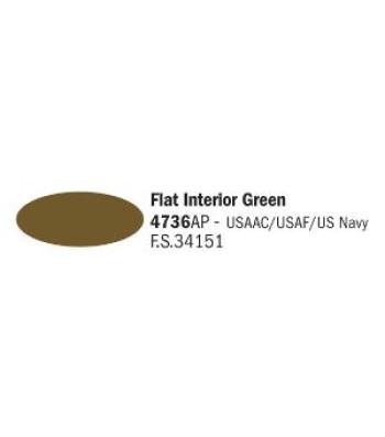 Flat Interior Green - Акрилна боя за моделизъм (20 ml)
