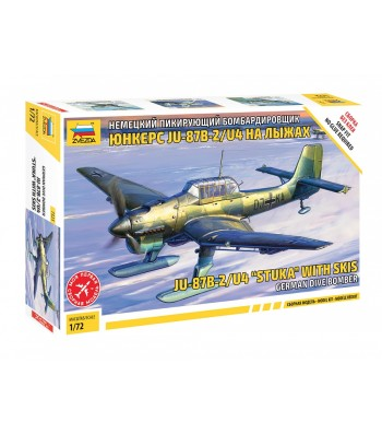 1:72 Германски самолет JU-87 STUKA W/SKI - сглобка без лепило
