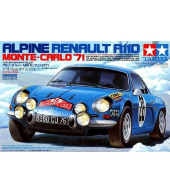 1:24 Състезателен автомобил Renault Alpine A110 '71 - Monte Carlo