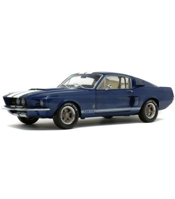 SHELBY MUSTANG GT500 - NIGHTMIST BLUE/ LIGHT GREY STRIPES-1967