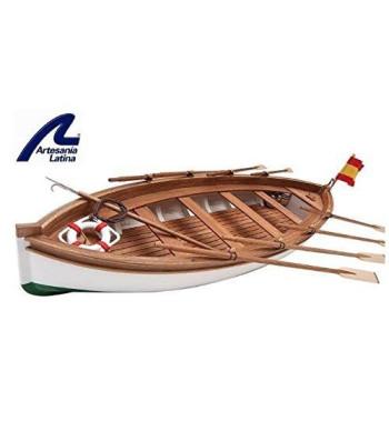 """1:35 Спасителна лодка на испанския тренировъчен кораб """"Хуан Себастиан Елкано"""" - Модел на кораб от дърво"""