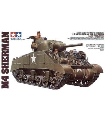 1:35 Американски среден танк U.S. Medium Tank M4 Sherman - ранна версия - 3 фигури