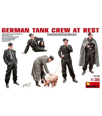 1:35 Германски танков екипаж в почивка - 6 фигури
