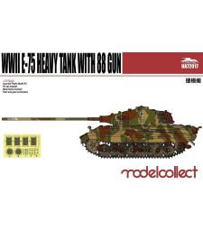 1:72 Германски тежък танк Е-75 с 88 мм оръдие (Germany WWII E-75 Heavy Tank with 88 Gun)