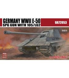 1:72 Греманско оръдие Е-50 СПГ с 105/L62 (Germany WWII E-50 SPG GUN with 105/L62)