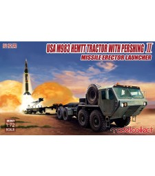 1:72 Американски военен влекач M983 с насочващ механизъм за ракети (USA M983 HEMTT Tractor with Pershing Ⅱ Missile Erector Launcher)