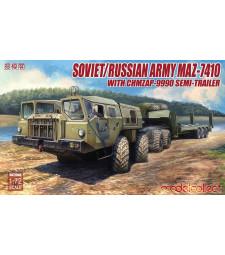 1:72 Съветски военен влекач МАЗ-7410 с полуремарке ЧМЗАП-9990(Soviet/Russian Army MAZ-7410 with ChMZAP-9990 semi-trailer)