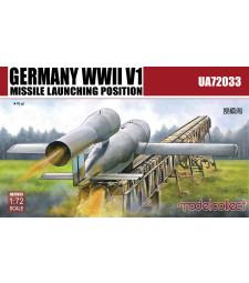 1:72 Германска система за изстрелване на ракети В1, 2 в 1 (Germany WWII V1 Missile launching position 2 in 1)
