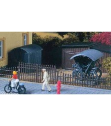 Комплект от барака и стойка за велосипеди