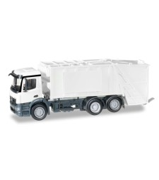 1:87 HERPA MINIKIT: MERCEDES-BENZ ANTOS PRESS GARBAGE TRUCK, WHITE