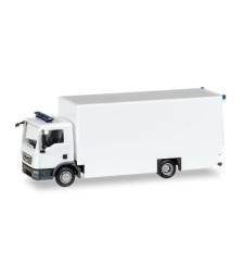 1:87 HERPA MINIKIT: MAN TGL BOX TRUCK, WHITE / UNPRINTED