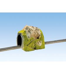 Прав тунел, единична релса, 25 х 19  cm