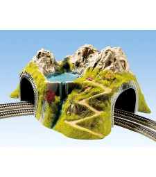 Тунел със завой, двойна релса, 41 х 37 cm