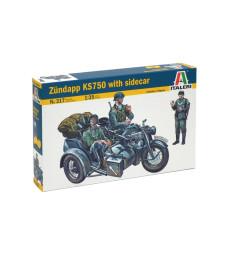1:35 Германски мотоциклет с кош ЗЮНДАП КС 750 (ZUNDAPP KS 750)