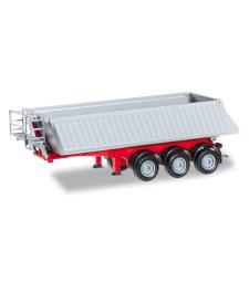 Schmitz dump semi-trailer, 3a, red