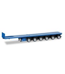 Nooteboom ballast trailer 6-axle, gentian blue