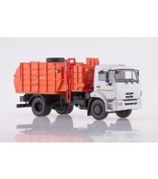 Garbage truck MKM-4503 (KAMAZ-43253), facelift /grey-orange/