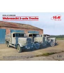 1:35 Германски триосев камион на Wehrmacht (Henschel 33D1, Krupp L3H163, LG3000)