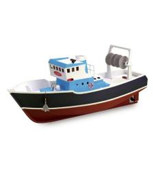 """1:15 Риболовен траулер АТЛАНТИС - Подходящ за RC (серия """"Построй и навигирай"""") - Модел на кораб от дърво"""