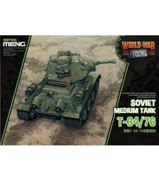 Съветски среден танк Т-34/76 (Soviet Medium Tank T-34/76, cartoon model) - сглобка без лепило