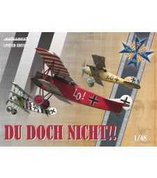 1:48 Du doch nicht! Комплект от три самолета-Albatros D.V, Fokker Dr.I´s и Fokker D.VII