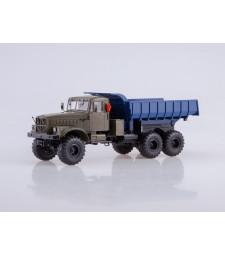 KRAZ-255B 6x6 Dumper Truck - Khaki & Blue