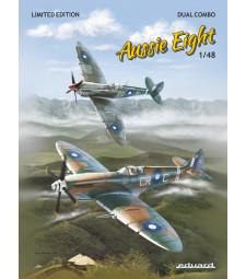 """1:48 Специално зидание """"Aussie Eight DUAL COMBO"""", австралийски Mk.VIII Spitfire+книга на английски език"""