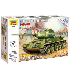 1:72 Съветски среден танк T-34/85 Soviet Medium Tank WWII - сглобка без лепило