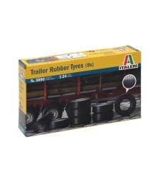 1:24 Комплект гуми за ремарке на камион (8 бр.)