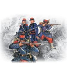 1:35 Френска пехота (1870-1871) (4 фигури - 1 офицер, 3 войници)