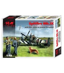 1:48 Британски изтребител Spitfire Mk.IX с вкл. пилоти и наземен персонал